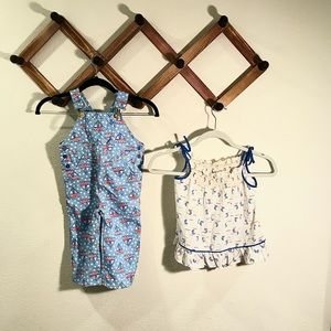 Other - Vintage Sailboat Set overalls and top girl/boy